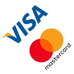 Visa och Mastercard logo