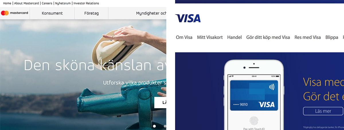 Casinon med Visa och Mastercard